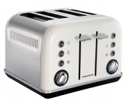 Morphy Richards White Accents 4 Slice Toaster (242021)