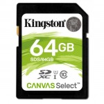 Kingston 64GB Canvas Select Class 10 SDXC (SDS/64GB)