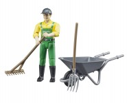 Bruder Figure Set Farmer with Accessories (62610)