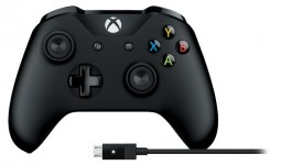 Microsoft Xbox One Controller + Cable (4N6-00002)