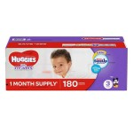 Huggies Little Movers - 180 pieces, Size 3 (036000462913)