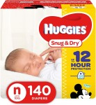 Huggies Little Snug & Dry - 140 pieces, Size N - Disney Mickey Mouse (036000464245)