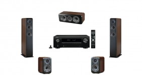 Denon AVR-X550BT + Wharfedale Diamond 330/310/300C (Home Cinema Set 5.0) Walnut Pearl