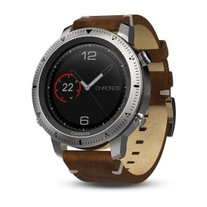 Garmin Fenix Chronos With Vintage Style Leather Watch band (010-01957-00)