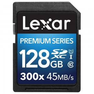 Lexar Platinum II 300x SDXC 128GB Class 10 UHS-I 45MB/s (LSD128BBEU300)