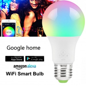 Nexlux Magic Home E27 WiFi Smart RGB LED Lamp Compatible with Google Assistant and Amazon Alexa