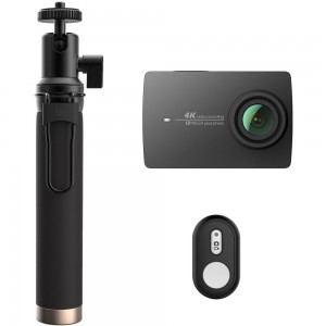 Xiaomi Yi 4K Action Camera Black with Selfie Stick