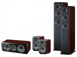 Wharfedale Diamond 330/310/300C (Home Cinema Set 5.0) Walnut Pearl
