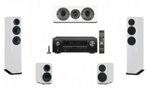 Denon AVR-S650H + Wharfedale Diamond 330/310/300C (Home Cinema Set 5.0) White