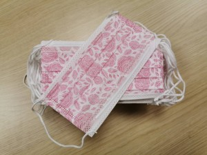 Medical Flower Pink Face Masks 60 pieces in a box