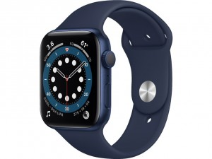 Apple Watch Series 6 40mm GPS Blue Aluminium Case with Sport Band Deep Navy MG143EL