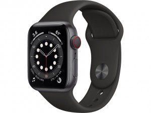 Apple Watch Series 6 40mm GPS Space Gray Aluminium Case with Sport Band Black MG133EL