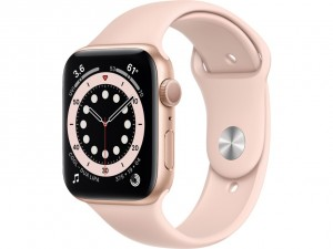 Apple Watch Series 6 44mm GPS Gold Aluminium Case with Sport Band Pink Sand M00E3EL