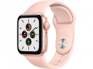 Apple Watch SE 40mm GPS Gold Aluminium Case with Sport Band Pink Sand MYDN2EL
