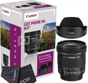 Canon EF-S 10-18mm f/4.5-5.6 IS STM + Lens Hood + Cleaning Cloth