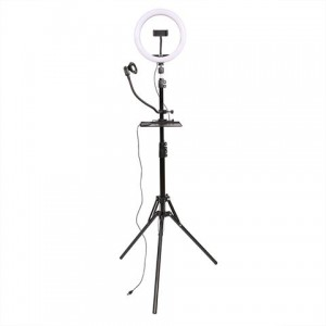 StudioKing LED Vlog Set SK-K190 with Ring Lamp and Microphone Holder