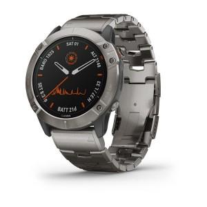 Garmin fenix 6X Pro Solar Edition - titanium with vented titanium bracelet (010-02157-24)