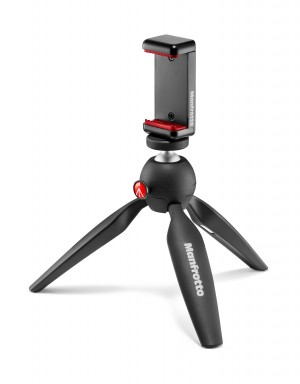 Manfrotto Mini Tripod Black with Universal Smartphone Clamp (MKPIXICLAMP-BK)