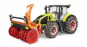 Bruder Claas Axion 950 with Snow Chains and Snow Blower (03017)