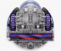 Dyson 360 Heurist Robot Vacuum Cleaner Nickel/Blue