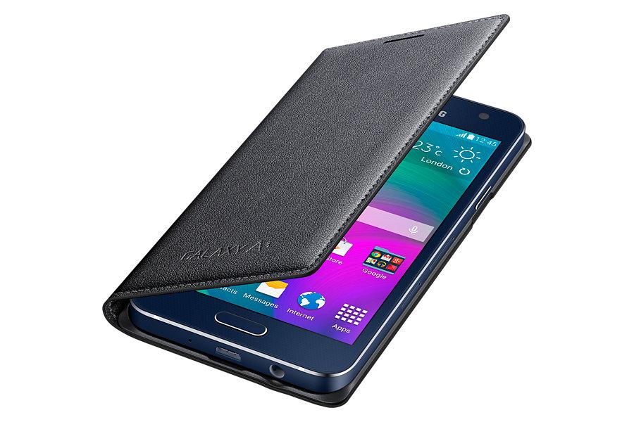 new product d97ef 8948a Samsung Galaxy A3 Flip Cover Charcoal Black (EF-FA300BCEGWW ...