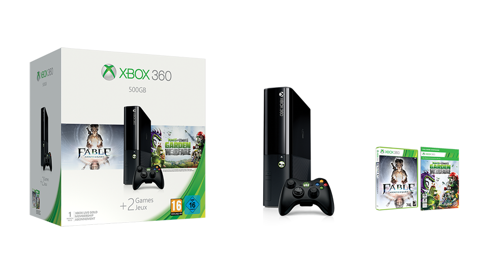 microsoft xbox 360 e 500gb plants vs zombie garden warfare fable anniversary - Plants Vs Zombies Garden Warfare Xbox 360