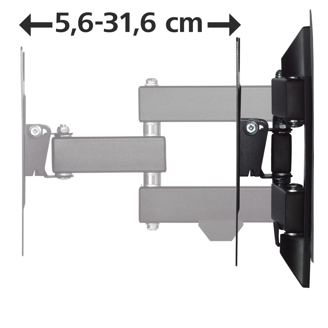 hama fullmotion tv wall bracket 1 star 200x200 122 cm 48 39 39 118101. Black Bedroom Furniture Sets. Home Design Ideas