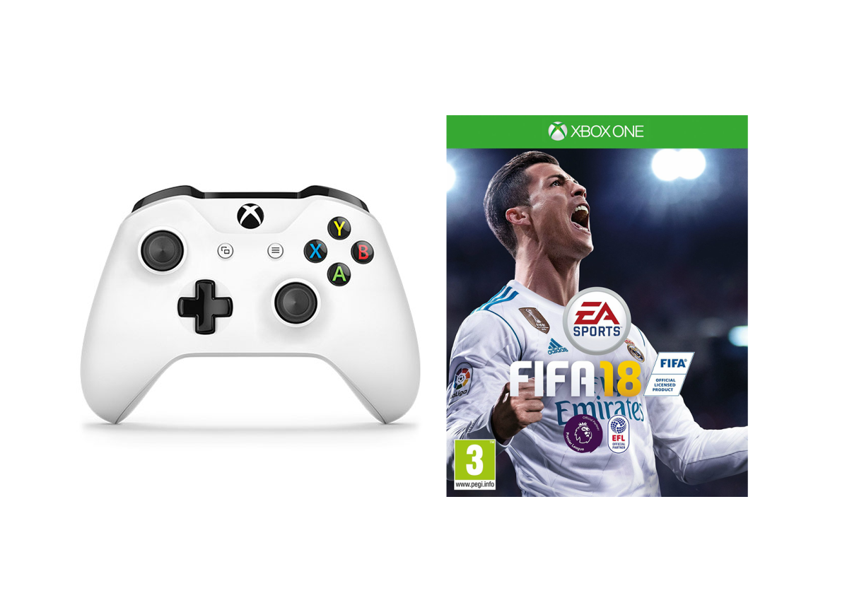 Microsoft Xbox One S Wireless Controller White + FIFA 18 | Online