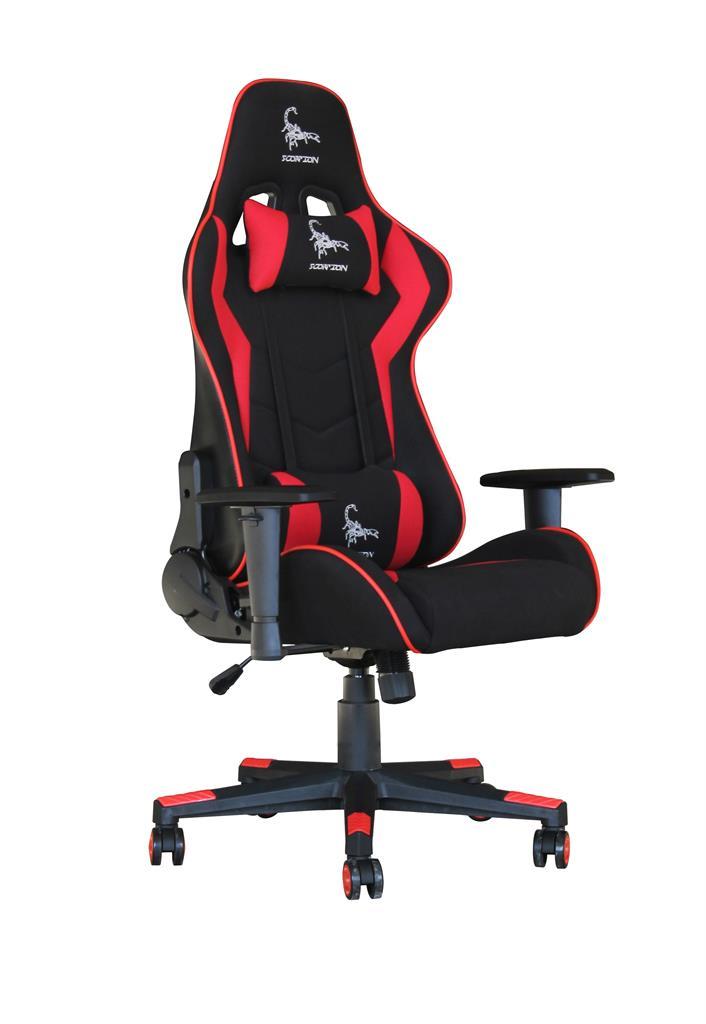 Gembird Gaming Chair Scorpion Black Red Mesh Gc