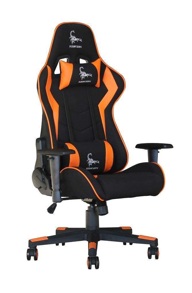 Groovy Gembird Gaming Chair Scorpion Black Mesh Orange Leather Squirreltailoven Fun Painted Chair Ideas Images Squirreltailovenorg